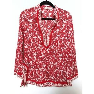 Tory Burch Red Pepper Issy tunic